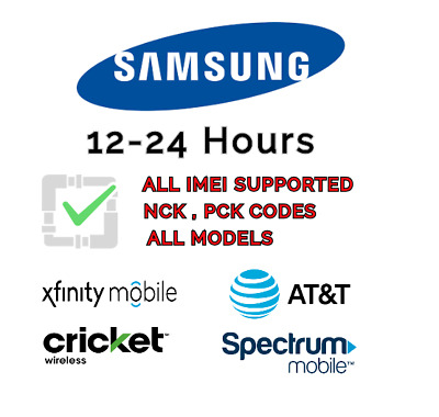 ATT,Cricket,Xfinity PREMIUM UNLOCK CODE SERVICE FOR SAMSUNG GALAXY NOTE9,S9,S9+