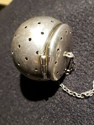 Sterling Silver Tea Defuser Simon Bros Infuser Ball Antique