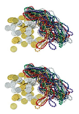 Beistle S50038AZ2 Treasure Loot 124 Piece, Multicolored