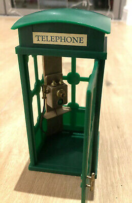 Calico Critters Sylvanian Families Green Phone Box Phone Booth Vintage Green