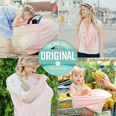 Covered Goods Multi-way Nursing Covers Carseat Cover Pale Pink Cotton New Mom