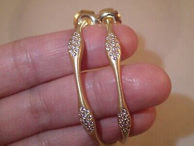 "Designer Carelle large 2"" hoop 0.93ct diamond earrings"