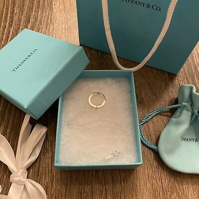 Tiffany & Co. 1837 Sterling Silver 925 Circle Ring Charm Pendant Necklace 16""