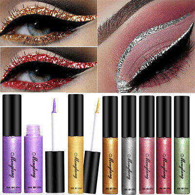 Makeup Long Lasting Glitter Eye Shadow Liquid Eyeliner Smooth Colourful Pigment