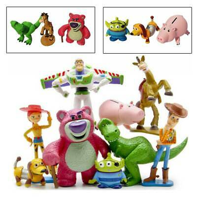 9 PCS Toy Story Woody Buzz Jessie Dinosaur Lotso Action Figure Cake Toppers Toys