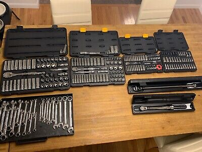 Gearwrench 1/4 3/8 1/2 Socket Set, SAE/Metric Ratchet Wrenches, Torque Wrench