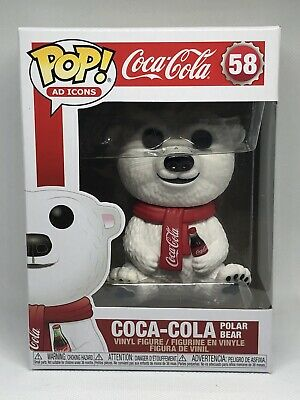 Funko Pop Ad Icons Coca-Cola Polar Bear Vinyl Figure #58 NIB With Pop Protector