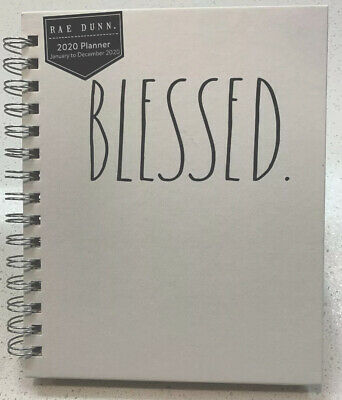 2020 Blessed Planner | White | January Thru December 2020 | Brand New - Rae Dunn