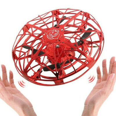 Flying Drone Toys Mini Hand Operated Drones 360° Rotating Flying UFO Kids Gifts