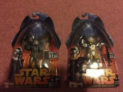 Star Wars Revenge of the Sith 3.75 inch Commander Gree & Commander Bly Lot of 2