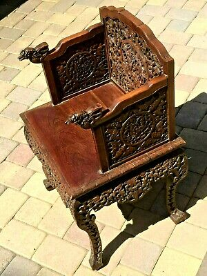 -Chinese Anique Hand Carved Huan Ghuali Armchair Dragon Design*-