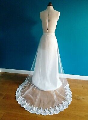Removable dress train/Detachable Wedding dress train *Made to Order*