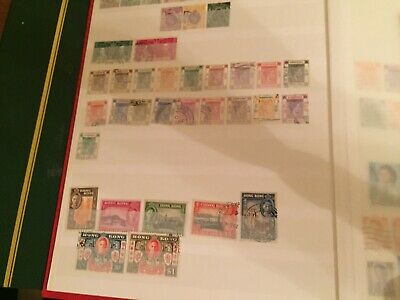 Hong Kong king george stamps etc tidy collected !! high cat value incl $ values