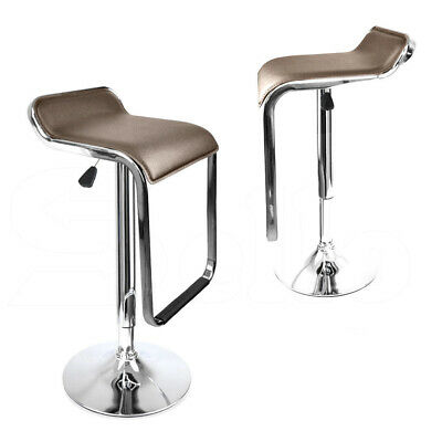 2x PU Leather Swivel Bar Stools Kitchen Dining Chair Barstool Gas Lift