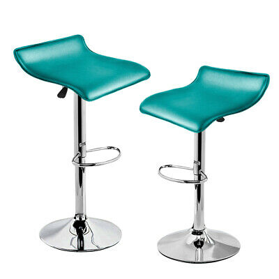 2x PU Leather Swivel Bar Stools Kitchen Dining Chair Gas Lift Adjustable