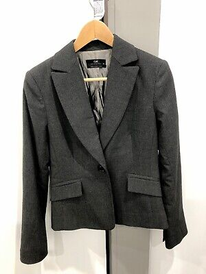 CUE - Suit Jacket - Size 10 - Charcoal - Near New