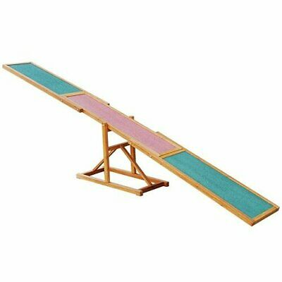 Agility Seesaw For Dogs Outdoor Varnished Pinewood Non Slip Colour Coded Zones