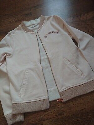 H&m Pink Shiny Zip Up Jumper Size 12-14 Years