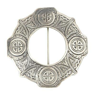 Celtic Knotwork Scottish Plaid Brooch / Pin -2 Finishes