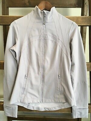 Lululemon Light Grey Define Running Jacket Size US 8