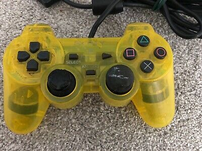 Official Genuine Original Sony Dual Shock 2 PS2 Controller Game Pad Lemon Yellow