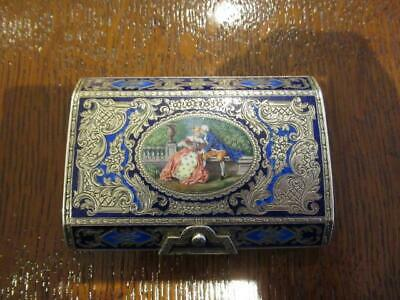 Italian Silver and Enamel Snuff Box G. Donadio / Naples/ S. Lucia,