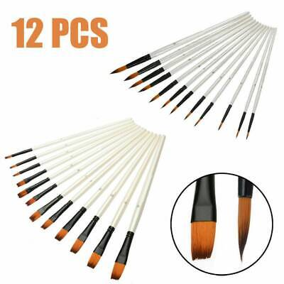 12piece Artist Paint Brushes Set Acrylic Oil Watercolour Painting Craft Art Kit