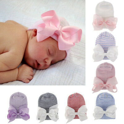 Toddler Baby Girl Caps Nursery Beanie Hat Infant Turban Newborn Hospital Hat