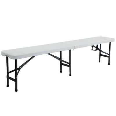 6 Portable Plastic In / Outdoor Picnic Camping Folding Bench