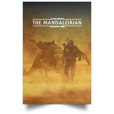 New Star Wars The Mandalorian Season One Movie Tv Poster Size 16×24 24×36