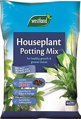 Houseplant Potting Compost Mix  Enriched with Seramis, 4 L Westland