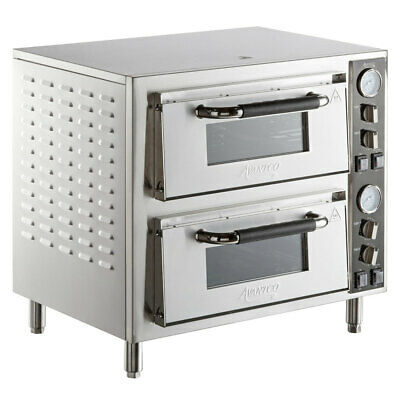 Avantco DPO-18-DD Double Deck Countertop Pizza Oven with Two Independent Chamber