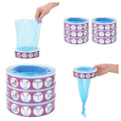 Refill Cassettes Angelcare Diaper Genie Disposal Bin Bag Nappy Pack 3 6 Pieces