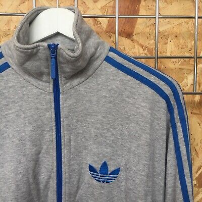 Adidas Originals Jersey Track Top/jacket -  S SMALL - cotton fleece (M MEDIUM ?)