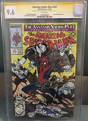 Amazing Spider-Man #322 Cgc Ss 9.6 Signed By Todd Mcfarlane & David Michelinnie