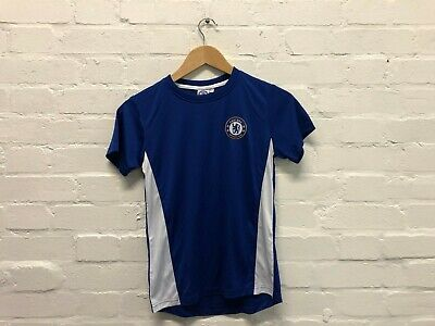 Chelsea FC Official Kid's Club Poly T-Shirt - 10-11 Years - Blue/White - New