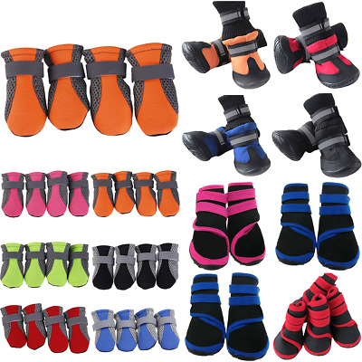 4pcs Winter Pet Dog Cat Shoes Boots Waterproof Non-Slip Puppy Paw Warm Protector