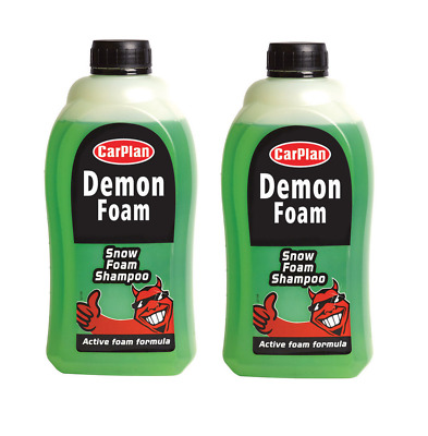 2 x Carplan Demon Foam Snow Foam Shampoo Concentrated Streak Free 1 Litre
