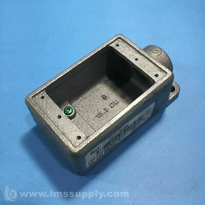 """Crouse Hinds FS2 Cast Device Box, 3/4"""", Iron USIP"""