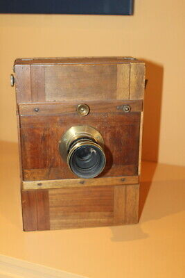 Wood & Brass   Large Format 7x5 Plate Camera