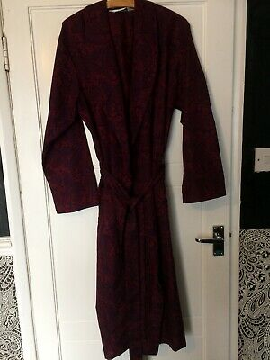 M&S Vintage Mens Dressing Gown Size Small