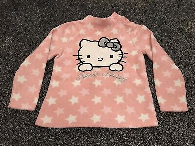 Hello Kitty Girls Pink Jumper Age 7-8 Years
