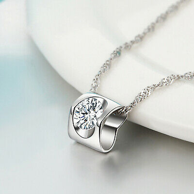 REAL SOLID SILVER 925  Classic Sterling Silver Necklace & Pendant Heart-075