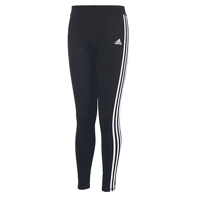 NWT$35 Adidas 3 Stripes Girls Climalite Leggings Black Size S-M AK4458