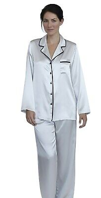 Womens Silk Satin Pajamas - PJ Set Top and Bottom