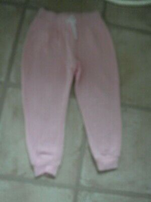 Girls Joggers age 3-4 years Grey with Pink + 2 side pockets - white tie