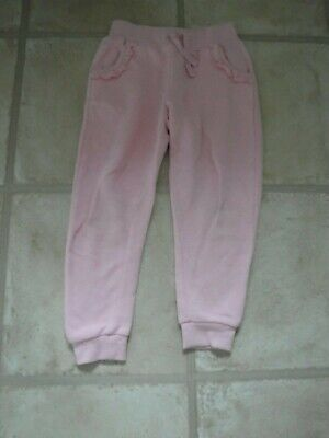 Girls Joggers age 3-4 years Grey with Pink + 2 side pockets - pink tie