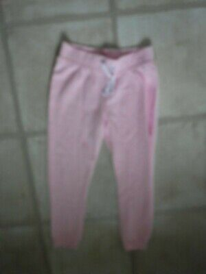 Girls Joggers age 4 years Grey with Pink + 2 side pockets - white tie