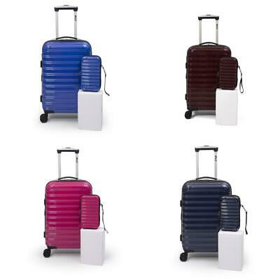 Hard Shell Carry On Luggage Spinner Traveler Expandable Wheels Case Handles 20""