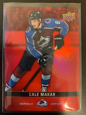 2019-20 Tim Hortons Upper Deck Red Die Cut Parallel Cale Makar #DC-19
